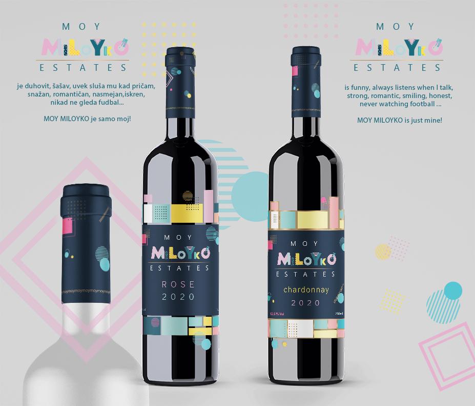 Miloyko wine. Branding. Design..